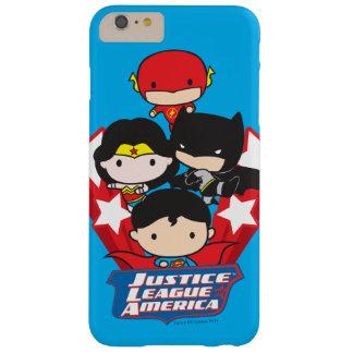 Liga de justicia de Chibi de las estrellas de Funda Barely There iPhone 6 Plus