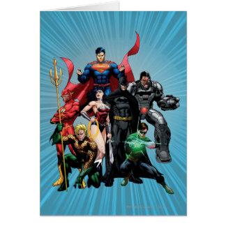 Liga de justicia - grupo 2 tarjeta