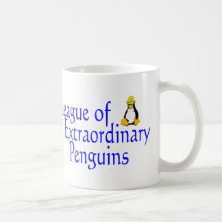 Liga de los pingüinos extraordinarios 4 taza de café