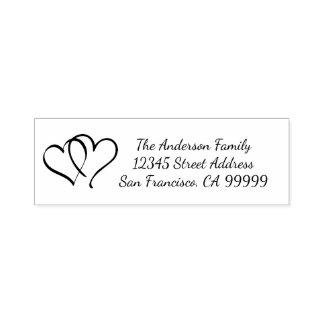 Ligando los corazones - uno mismo que entinta el sello automático
