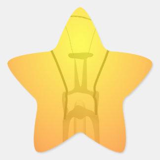 light-31111 pegatina en forma de estrella
