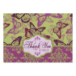 Ligón TY Notecard de los besos de la mariposa Plantillas De Tarjeta De Negocio
