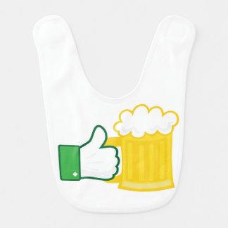 Like beer babero para bebé