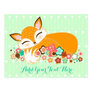Lil Foxie Cub - postal linda del personalizado del