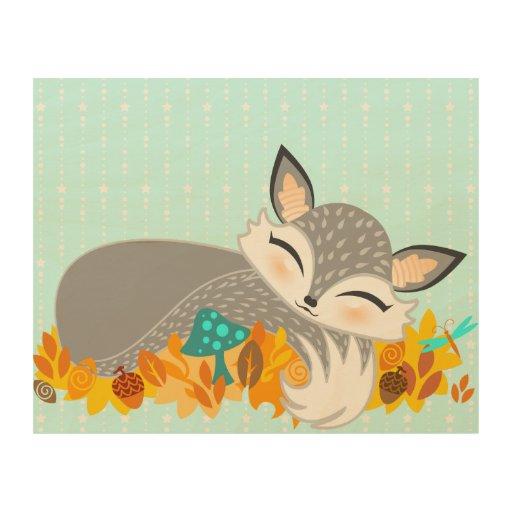 Lil Foxie Cub Cuadros De Madera