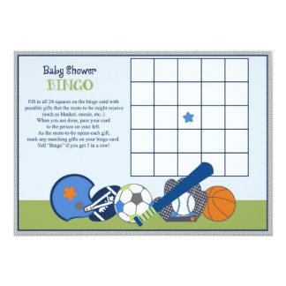 Lil/pequeño juego del bingo de la fiesta de invitación 12,7 x 17,8 cm