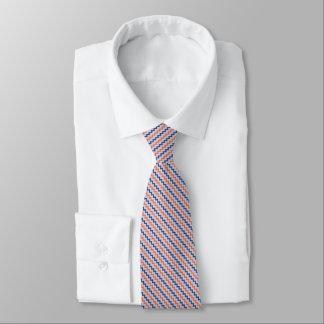Lila anaranjada diagonal del galón elegante azul corbata personalizada