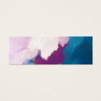Lila con la pintura abstracta moderna de la tarjeta de visita pequeña