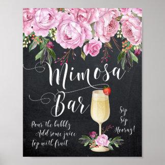 Lila de la muestra del boda de la barra del Mimosa Póster