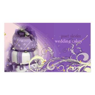 Lila/lavanda/torta de chocolate, panadería tarjeta de visita