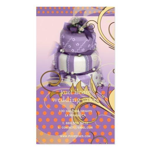 Lila/pastel de bodas/panadería/pâtisserie de la la tarjetas de visita