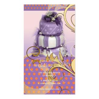 Lila/pastel de bodas/panadería/pâtisserie de la tarjetas de visita