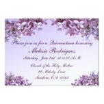 Lila Quinceanera Invitación 12,7 X 17,8 Cm
