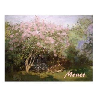 Lilas del impresionismo por la postal de Monet