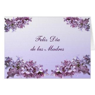 Lilas elegantes Feliz Dia de las Madres Tarjeta De Felicitación