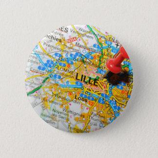 Lille, Francia Chapa Redonda De 5 Cm