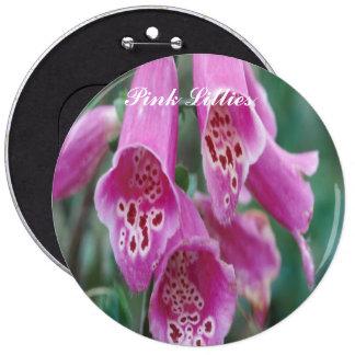 Lillies rosado, botón pins