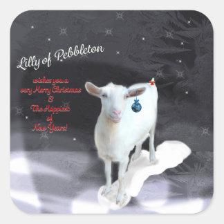 Lilly de Pebbleton;  Pegatinas cuadrados de Pegatina Cuadrada