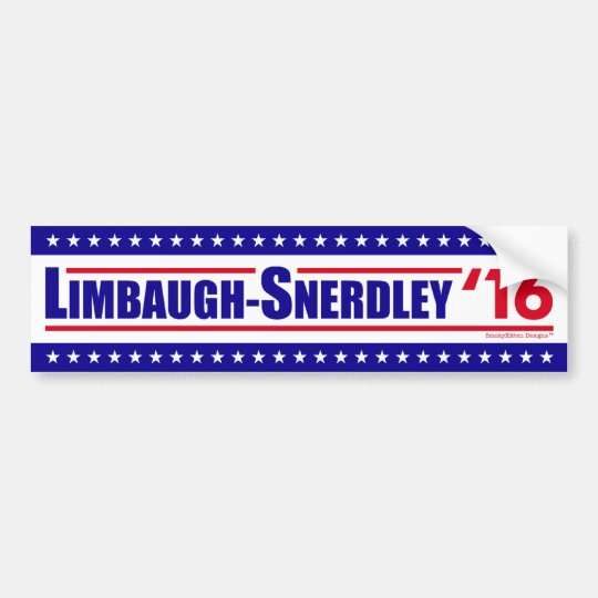 Limbaugh-Snerdley para el presidente 2016 Pegatina Para Coche