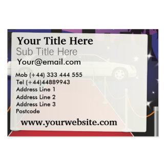 Limo de la celebridad de la alfombra roja tarjetas de visita grandes