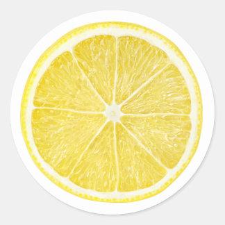Limón #10 pegatina redonda