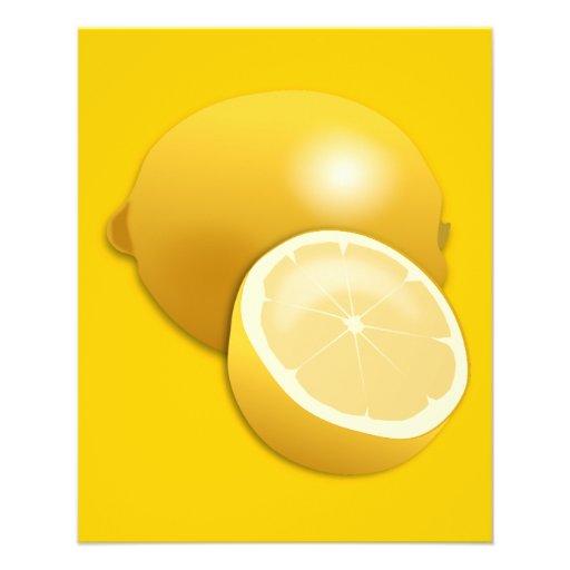 limón cítrico de la comida de los agrios citron-15 tarjetón