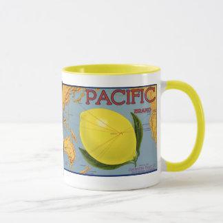 Limón pacífico de la fruta cítrica del arte de la taza