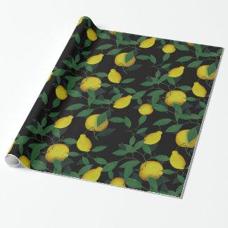 Limón tropical papel de regalo