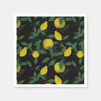 Limón tropical servilleta de papel