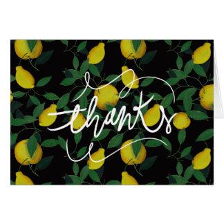 Limón tropical tarjeta de felicitación