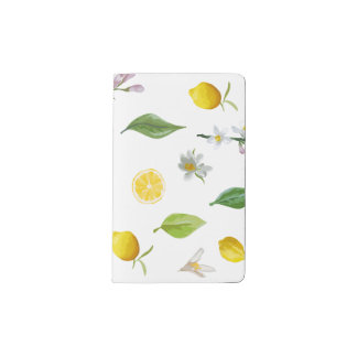 Limón y diario floral de Moleskine