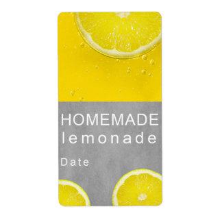 Limonada hecha en casa etiqueta de envío
