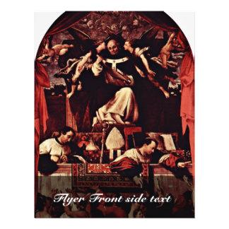Limosnas del santo Antoninus, por la loteria Loren Tarjetas Publicitarias