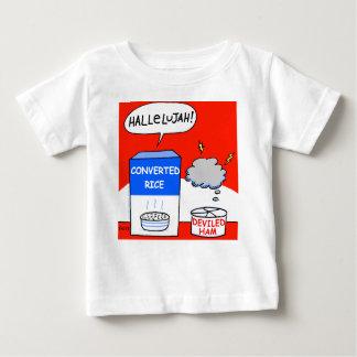 Limpie al bebé cristiano evangélico divertido del camiseta de bebé