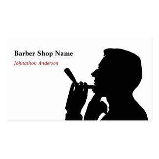 Limpie al estilista de la peluquería de caballeros plantilla de tarjeta de visita