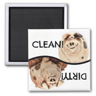 Limpie el imán guarro guarro y sucio del