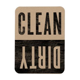 Limpie el imán sucio del lavaplatos del estilo de imán