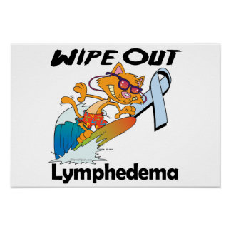Limpie hacia fuera Lymphedema Póster
