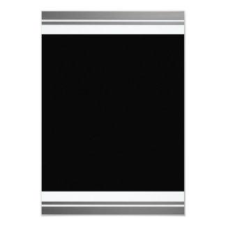 Limpie la frontera metálica de plata del borde invitación 8,9 x 12,7 cm
