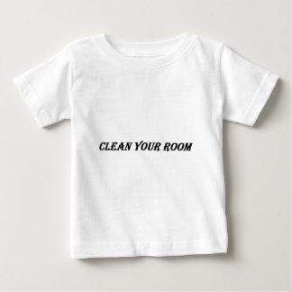 limpie su sitio camiseta de bebé
