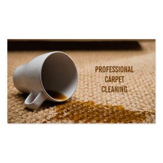 Limpieza de la alfombra suelo negocio de los plantillas de tarjetas personales