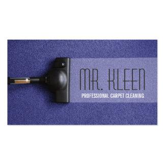 Limpieza de la alfombra suelo negocio de los tarjetas de visita