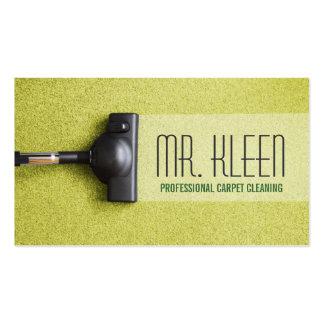 Limpieza de la alfombra suelo negocio de los plantillas de tarjeta de negocio