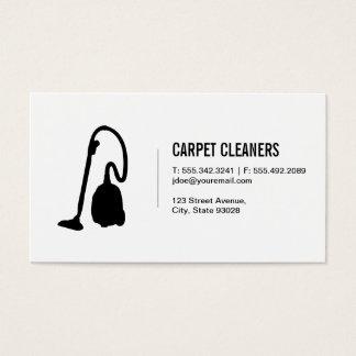 Limpieza de la alfombra tarjeta de negocios