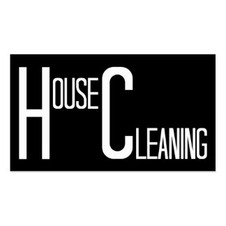Limpieza de la casa blanco y negro tarjetas de visita