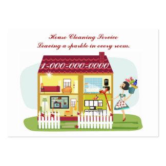 Limpieza de la casa plantilla de tarjeta de visita - Limpiezas de casas ...