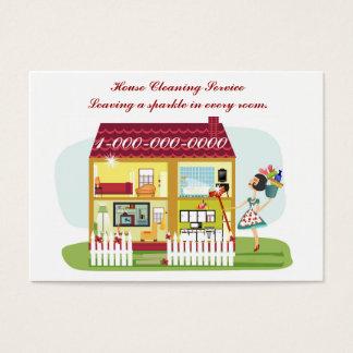 Limpieza de la casa tarjeta de negocios