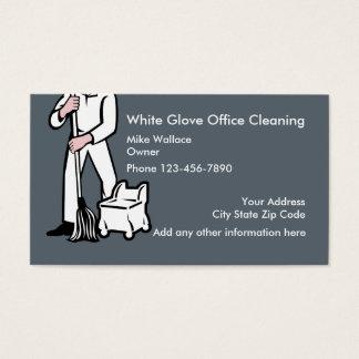 Limpieza de la oficina tarjeta de negocios