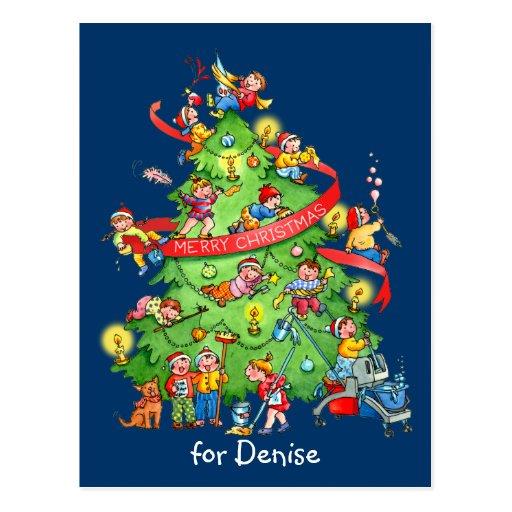 Limpieza de la postal del árbol de navidad