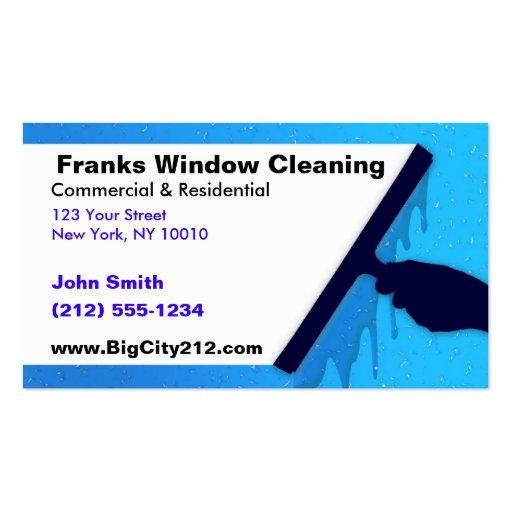 Limpieza de ventana ADAPTABLE A.C. Plantillas De Tarjetas Personales